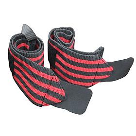 (Bộ 2 chiếc) Dây cuốn cổ tay cho người tập Gym, Băng Cổ Tay, Bảo Vệ Chấn Thương - Phụ Kiện Thể Thao - Sọc đỏ đen