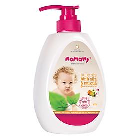 Nước Rửa Bình Sữa Và Rau Quả Thành Phần Chuyên Làm Sạch Thực Phẩm An Toàn Cho Bé Mamamy (600ml)