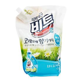 Nước giặt xả CJ Lion hương hoa Beat Fresh Camomile (Túi 2,1kg)