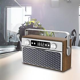 X5 Portable Wireless Bluetooth 5.0 Speaker 20W Loudspeaker Alarm Clock FM Radio MP3 Player Support TF Card U Disk Line