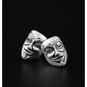 Bông tai nam bạc 925 - Khuyên tai bạc nam bạc Thái cao cấp