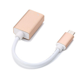 USB 3.1 Type-c to Aux Sound Card Adapter USB C External Stereo Cable for 3.5mm Stereo Headphone Speaker and Microphone