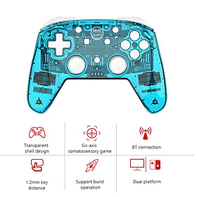 Wireless Switch Pro Controller for Nintendo Switch and Switch Lite Built-in Six-axis Gyroscope Turbo Dual Vibration BT