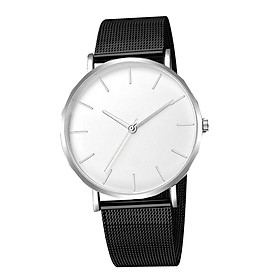 Male Simple Quartz Watch Luxury Mesh Band 12-Hour Analog Wristwatch Jewelry Gift