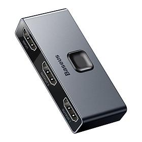 Thiết bị chia cổng HDMI 2 chiều Baseus Matrix HDMI Splitter - Hàng chính hãng