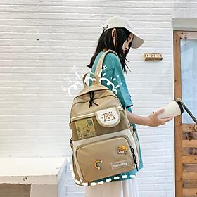 Balo nữ laptop chống nước Cặp đi học sinh Sinh viên ulzzang