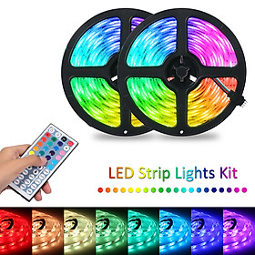 Tomshine 2x5m 300leds RGB Strip Lights Kit with 44 Keys IR Remote Controller Dimmable Color Changing Rope Lights IP65