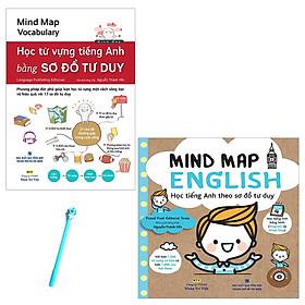 Combo Mind Map Vocabulary - Học Từ Vựng Tiếng Anh Bằng Sơ Đồ Tư Duy và Mind Map English - Học Tiếng Anh Theo Sơ Đồ Tư Duy (Kèm CD) (Tặng Kèm Bút )