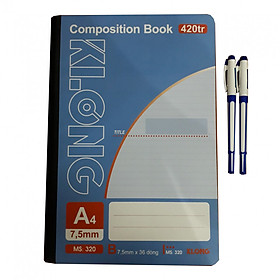 Combo 2 sổ A4 420tr + 2 bút bi nước AH