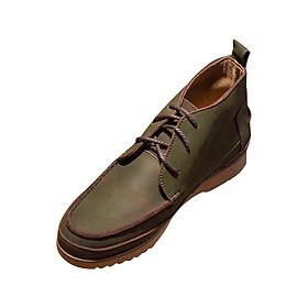 Giày Boots Da Bò Nubuck Đế Khâu - Green