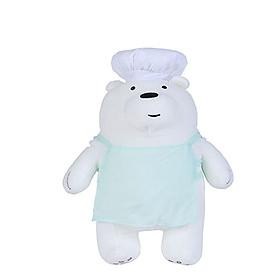 Gấu đầu bếp nhồi bông Miniso (Trắng) - Hàng chính hãng