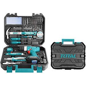 Bộ 127 món bao gồm máy khoan dùng pin 12V total THKTHP11272