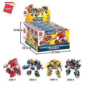 Đồ chơi xếp hình, lắp ráp lego Qman 3305: Tổ hợp người máy biến hình 1 (644 mảnh ghép)