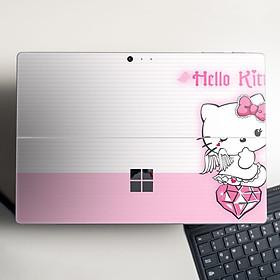 Skin dán hình Hello Kitty cho Surface Go, Pro 2, Pro 3, Pro 4, Pro 5, Pro 6, Pro 7, Pro X - Mã: hlk008 - Surface Pro X