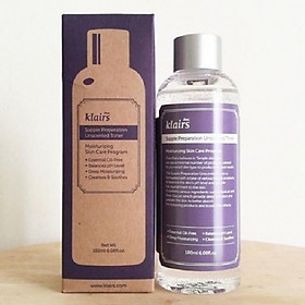 Nước Hoa Hồng Klairs Supple Preparation Facial Toner 180ml