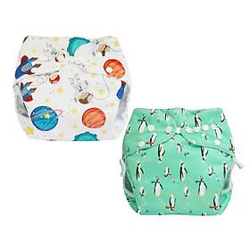 Tã vải BabyCute ban Đêm Siêu chống tràn - Mua 2 bộ tã size M (8-16kg) - Tặng 1 bỉm Cotton size 2 (10-15kg) - Giao mẫu ngẫu nhiên