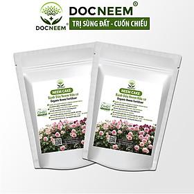 Combo Bánh dầu neem DOCNEEM Neem cake trị sùng đất, cuốn chiếu, ốc sên, phân bón kích rễ hoa hồng, cây cảnh trong nhà ngoài trời, 2 túi 1kg