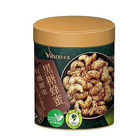 Hạt điều hữu cơ mật ong đường đen vilson - 130g/ lọ