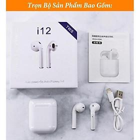 Tai nghe i12 bluetooth 5.0 cảm ứng cực nhạy tăng chỉnh âm lượng siêu hay S1975
