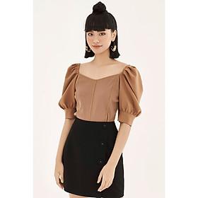 Áo knit top phối tay bồng 0KN1001 ADORE DRESS