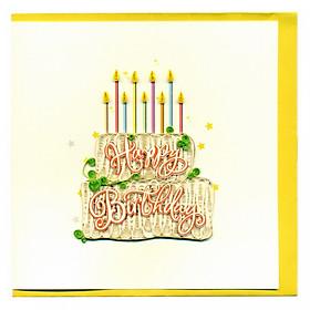 Thiệp Giấy Xoắn GX Birthday Việt Net VN2XM1150U6E1 (15 x 15 cm)