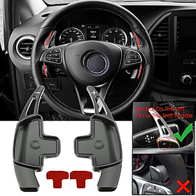 Steering Wheel Aluminum Shift Paddle Shifter Extension For Mercedes-Benz C-class #Grey