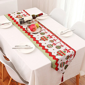 Christmas Table Runner Xams Chair Covers for Wedding Banquet Party Christmas Festive Home Dinner Table Decoration