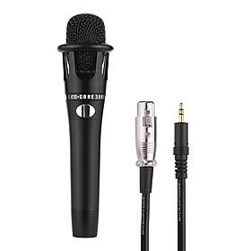 Micro Hát Karaoke Cầm Tay Có Dây Cáp XLR 3.5mm