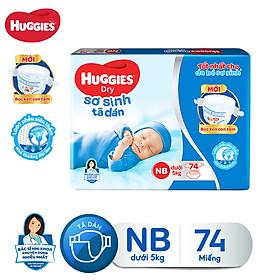 Tã dán sơ sinh Huggies Newborn NB74 - 74 miếng (dưới 5 kg)