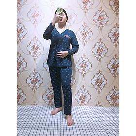 Quần áo bầu và sau sinh có chỗ cho bé ty, bộ mặc nhà cho mẹ bầu và sau sinh cotton đẹp