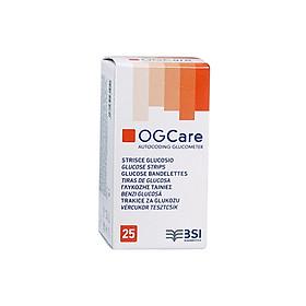 Hộp 25 que thử đường huyết dùng cho máy đo đường huyết OGCare