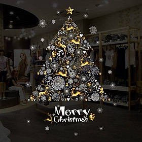 DIY Christmas Tree Wall Stickers Window Glass Festival Decals Santa Murals New Year Christmas Decorations for Home Decor