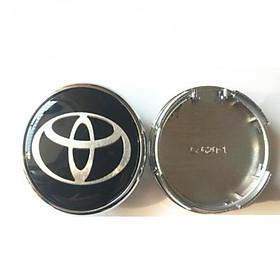 Logo chụp mâm, ốp lazang bánh xe ô tô Toyota đường kính 60mm