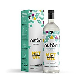 Natural MCT Oil by Nuton, C8 and C10 only Blend from Organic Coconuts - 33.8oz (1 Liter) | No C12 (Lauric Acid), Great for Keto Diet and Morning Coffee | Keto and Paleo Certified