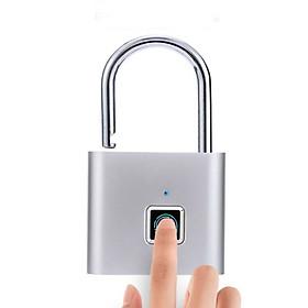 Khóa Vân Tay Bảo Mật Thông Minh Chống Trộm, Chống Nước - Tặng Kèm Dây Sạc USB