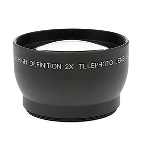 52mm Telephoto Conversion Lens with 2x Magnification for Camera DSLR