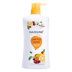 Sữa Tắm Hazeline Tẩy Tế Bào Chết Sáng Da Cam Yuzu Và Cherry (670g)