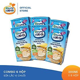 Combo 6 Hộp Sữa lắc vị chuối Fruto Nyanya 200ml