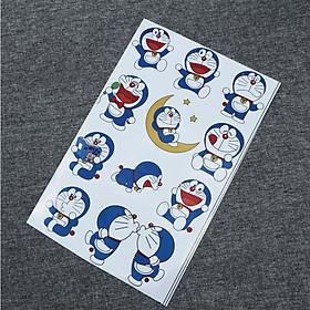Bộ tem logo, tem giấy hình Doraemon đa dạng trang trí xe máy