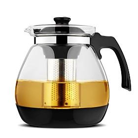 Bình pha trà thủy tinh có lõi lọc inox 304