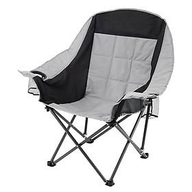 Ghế xếp gọn JYSK Fastrup khung thép vải polyester màu xám R93xD70xC100cm