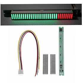 32 LED Music electrical level indicator VU Meter Audio Level Meter for Amplifier Board Adjustable Light Speed Board AGC Mode