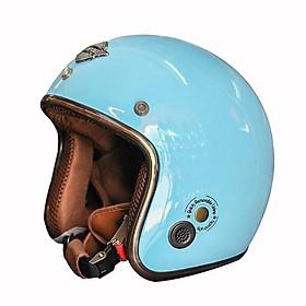 Mũ Bảo Hiểm ¾ Napoli Sh2 Ruby Thời Thượng Nhiều Màu Cá Tính Free Size (55-58cm)