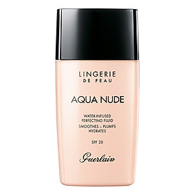Kem Nền Guerlain Lingerie De Peau Aqua Nude Intense Hydration Long-Wear Foundation-0