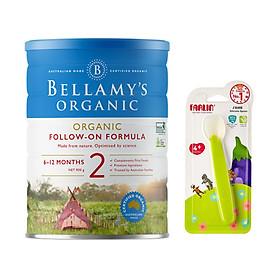 Combo Sữa Bột Bellamy's Organic Số 2 (900g) tặng muỗng ăn silicone Farlin