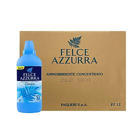 Thùng nước xả vải đậm đặc hương nước hoa cổ điển Ý Felce Azzurra 1.025L x 12 chai