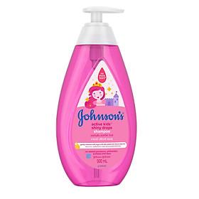 Dầu gội Johnson's Baby óng mượt cho bé gái (500ml)