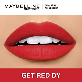 Son Lì Siêu Nhẹ Môi Maybelline New York Color Sensational Powder Matte 3.9g - Màu Đỏ 02 Get Red Dy-1