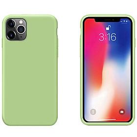 """Ốp Lưng Liquid Silicone Dẻo Lót Nhung Cho iPhone 11 Pro ( 5.8"""" ) - Chống Bám Vân Tay & Viền Bảo Vệ Camera ( Có 10 Màu Để Lựa Chọn )"""