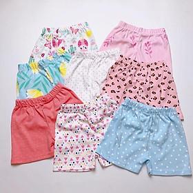 Set 10 quần đùi chục cho bé hoạ tiết dễ thương, chất vải mềm mịn
